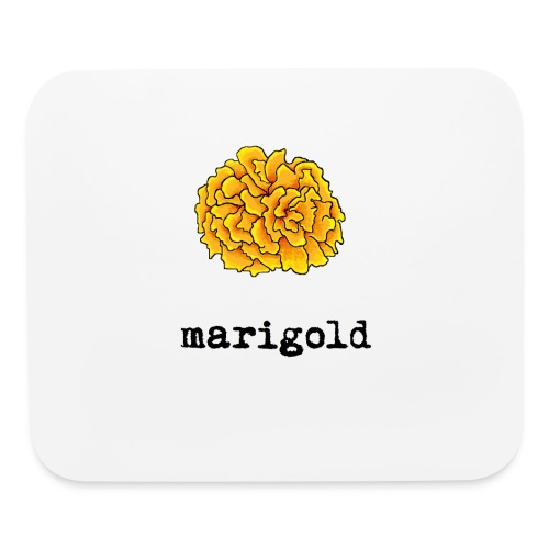 Marigold (black text) - Mouse pad Horizontal