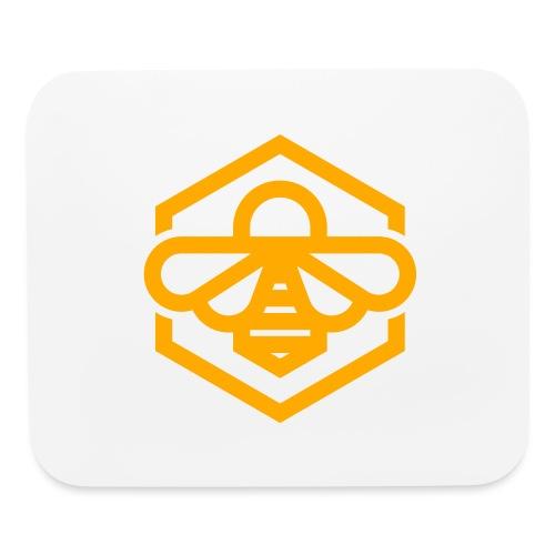 bee symbol orange - Mouse pad Horizontal