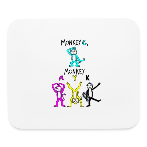 monkey see myk - Mouse pad Horizontal
