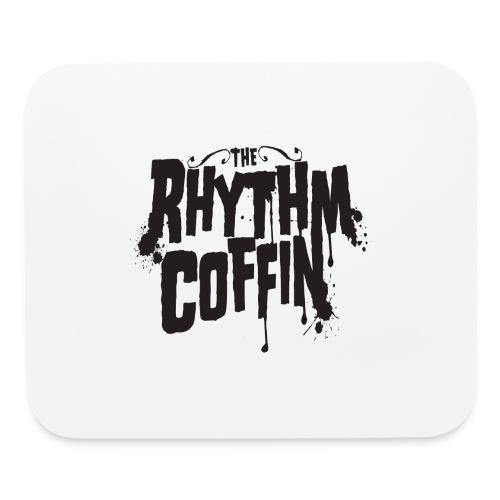 the rhythm coffin black logo - Mouse pad Horizontal