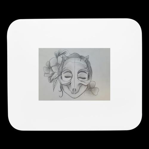 Masked Girl - Mouse pad Horizontal