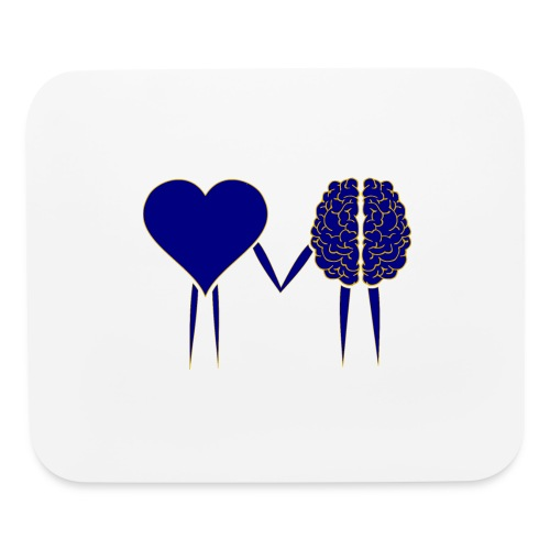 heart and brain - Mouse pad Horizontal