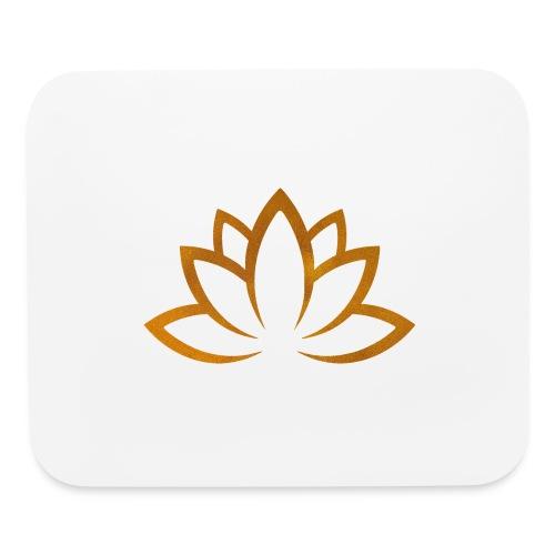 Lotus flower gold - Mouse pad Horizontal
