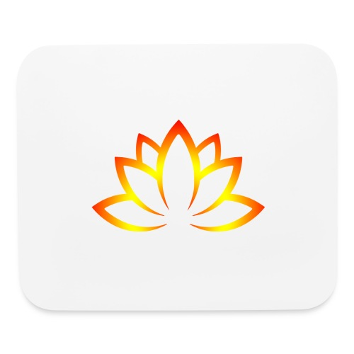 Lotusn firery orange - Mouse pad Horizontal