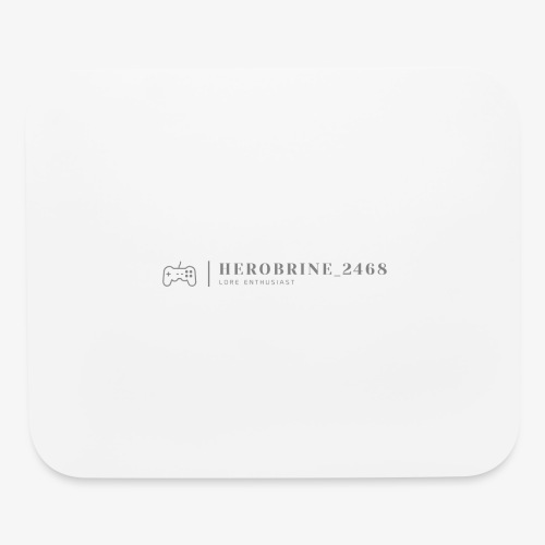 Instagrammer HeroBrine__2468's Logo - Mouse pad Horizontal