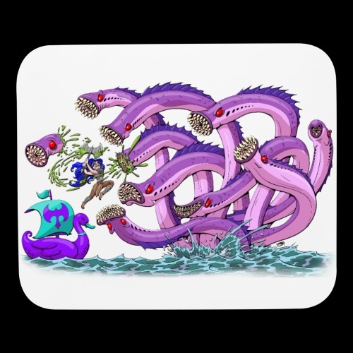 Axel The Mighty and the Lamprey Hydra - Mouse pad Horizontal