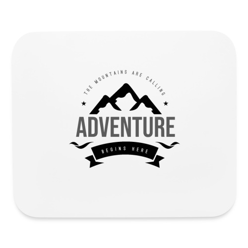 The mountains are calling T-shirt - Mouse pad Horizontal
