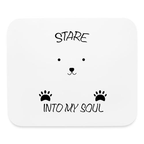 Polar Bear Stare - Mouse pad Horizontal