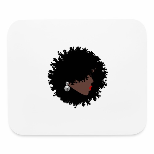 Natural Black Woman - Mouse pad Horizontal