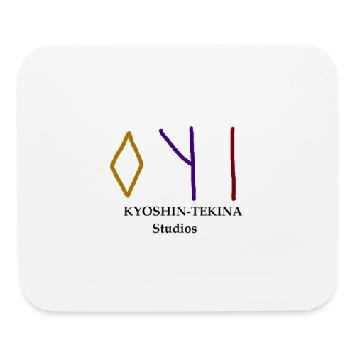 Kyoshin-Tekina Studios logo (black test) - Mouse pad Horizontal