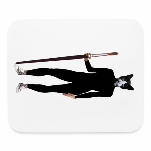 Cat Artist - Mouse pad Horizontal