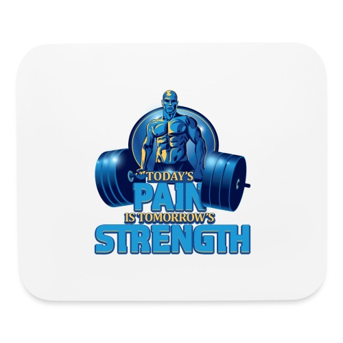 Heavy Lifting Man - Mouse pad Horizontal