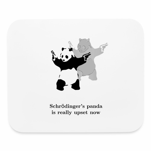 Schrödinger's panda is really upset now - Mouse pad Horizontal