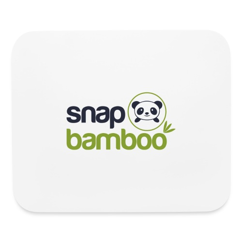 Snap Bamboo Square Logo Branded - Mouse pad Horizontal