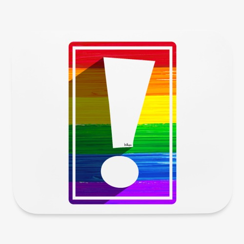 LGBTQ Pride Exclamation Point - Mouse pad Horizontal
