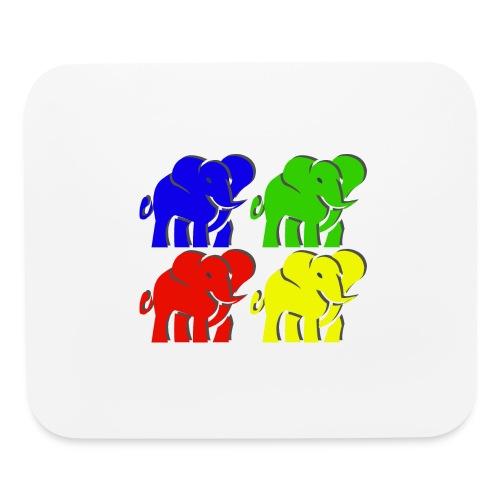 colorful elephants - Mouse pad Horizontal