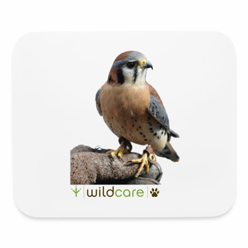 WildCare's non-releasable ambassador Kestrel Kele - Mouse pad Horizontal