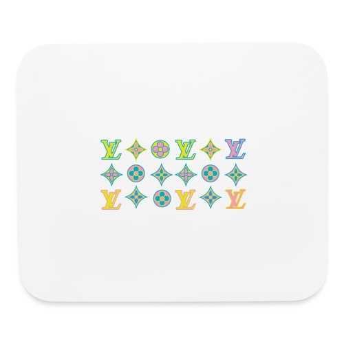 custom coloured LV pattern. - Mouse pad Horizontal