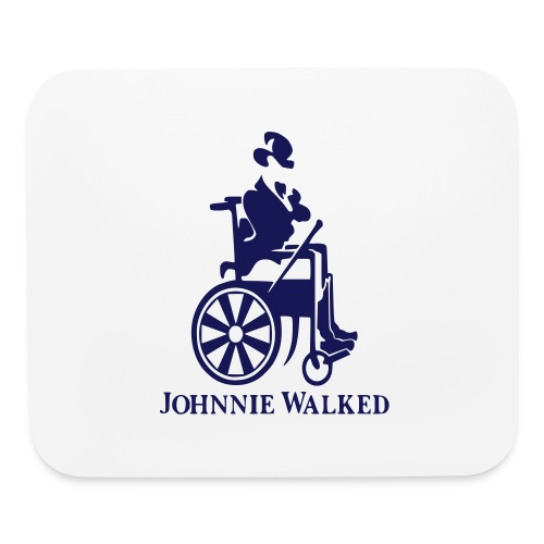 Johnnie Walked, Wheelchair fun, whiskey and roller - Mouse pad Horizontal