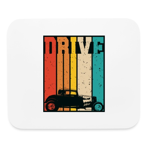 Drive Retro Hot Rod Car Lovers Illustration - Mouse pad Horizontal