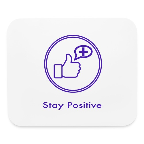 Stay Positive Icons without inwils - Mouse pad Horizontal