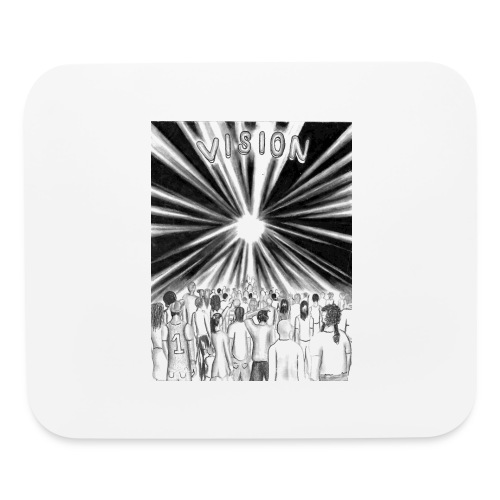 Black_and_White_Vision - Mouse pad Horizontal
