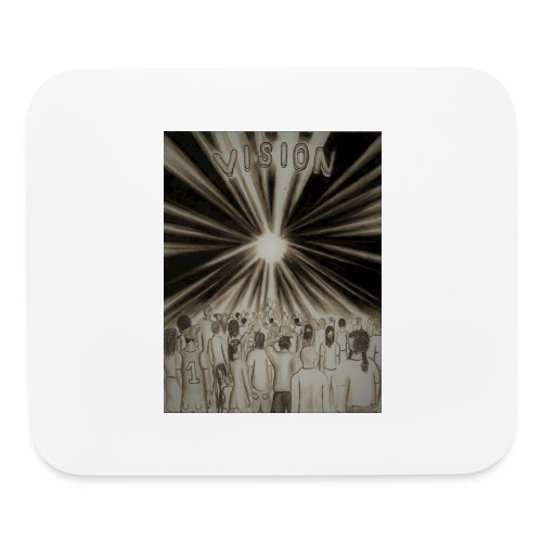 Black_and_White_Vision2 - Mouse pad Horizontal