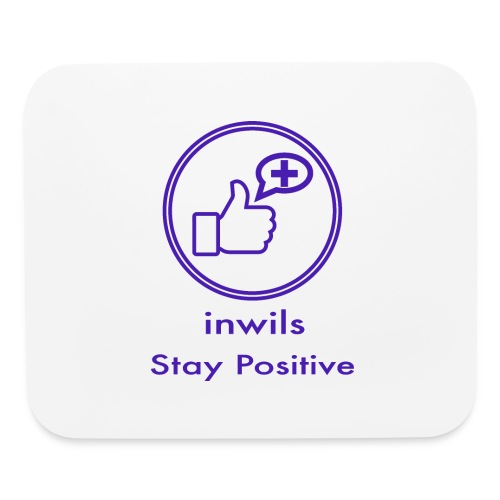 stay positive with inwils - Mouse pad Horizontal