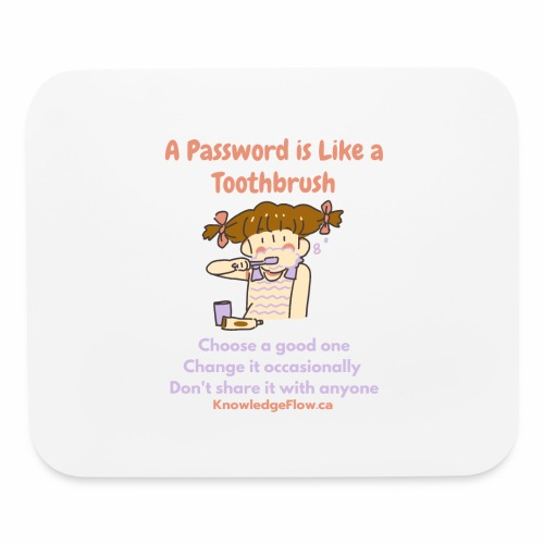 A Password is Like a Toothbrush...(1) - Mouse pad Horizontal