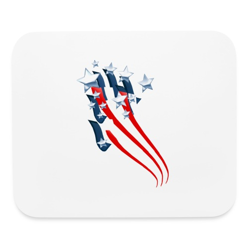 Sweeping American Flag - Mouse pad Horizontal
