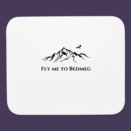 Fly Me To Bedmeg (black) - Mouse pad Horizontal