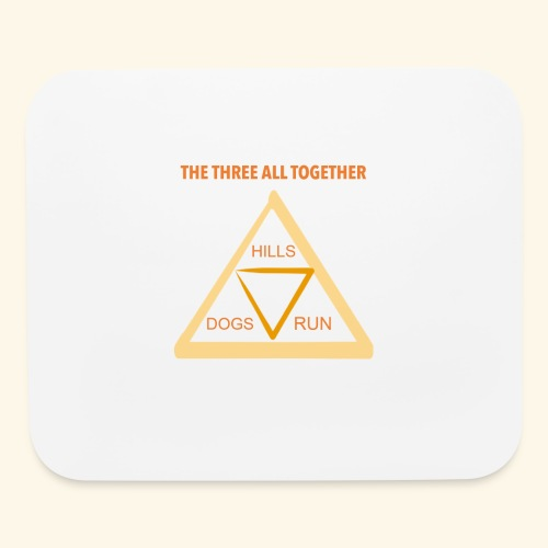 Run4Dogs Triangle - Mouse pad Horizontal