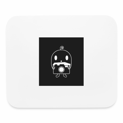 black and white tiny photographer - Mouse pad Horizontal