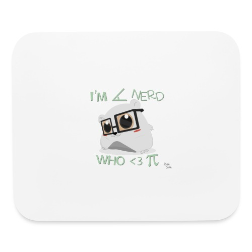 A Cute Nerd - Mouse pad Horizontal