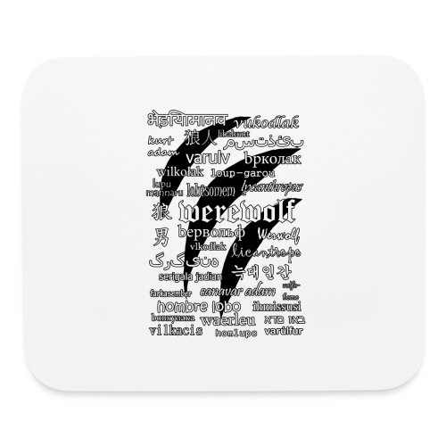 Werewolf in 33 Languages - Mouse pad Horizontal