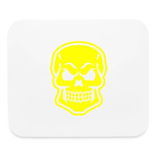 Skull vector yellow - Mouse pad Horizontal