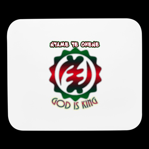 God is King Adinkra - Mouse pad Horizontal