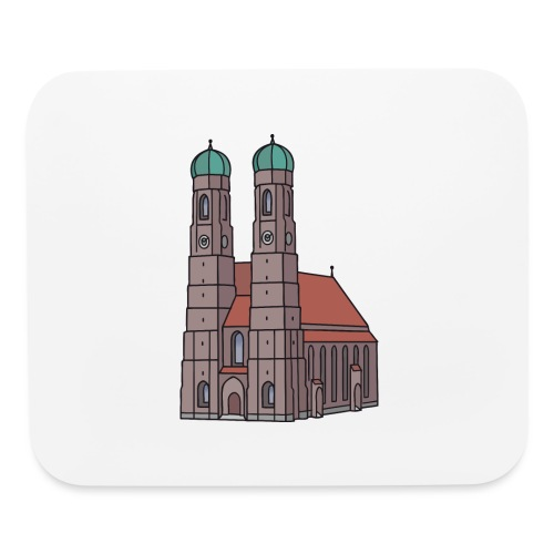Munich Frauenkirche - Mouse pad Horizontal
