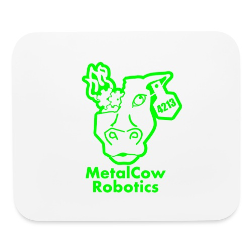 MetalCowLogo GreenOutline - Mouse pad Horizontal