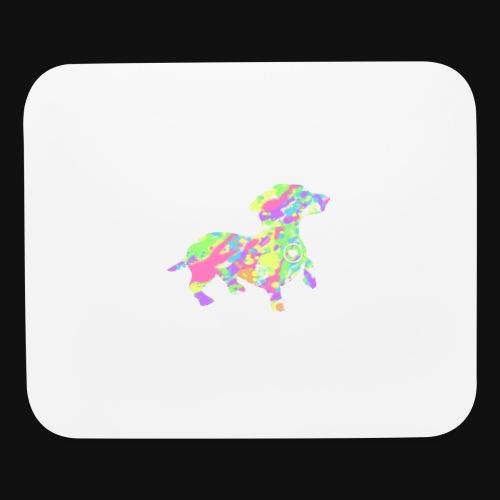 dachshund silhouette splatter - Mouse pad Horizontal