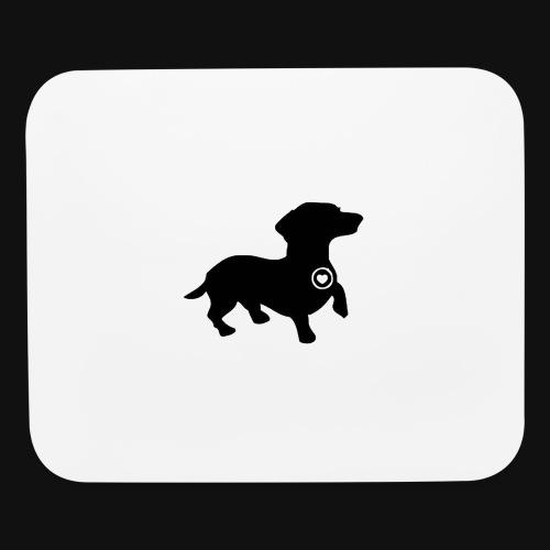 Dachshund love silhouette black - Mouse pad Horizontal