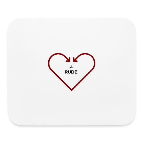 love is not rude - Mouse pad Horizontal