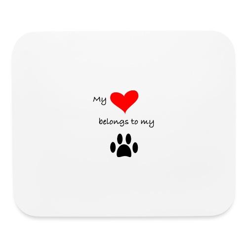 Dog Lovers shirt - My Heart Belongs to my Dog - Mouse pad Horizontal