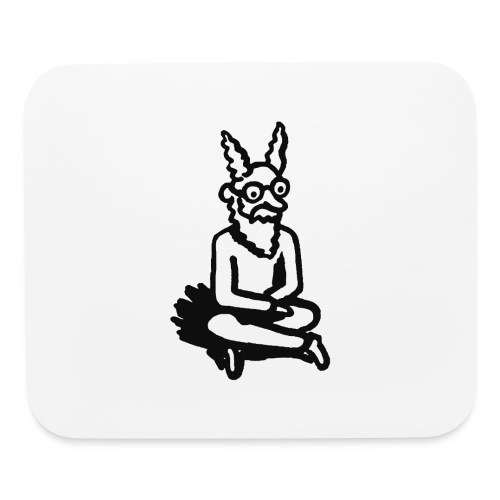 The Zen of Nimbus t-shirt / Black and white design - Mouse pad Horizontal