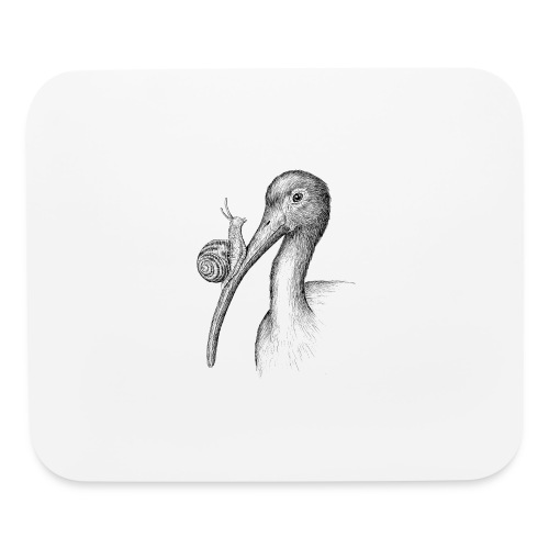 Ibis with Snail by Imoya Design - Mouse pad Horizontal