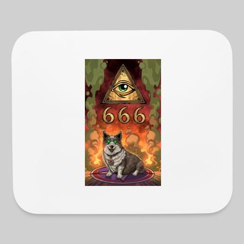 Satanic Corgi - Mouse pad Horizontal