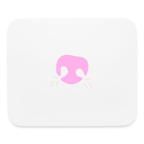 Pink Whimsical Dog Nose - Mouse pad Horizontal