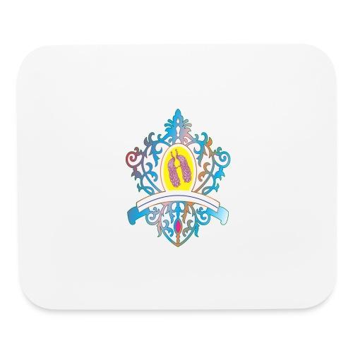 peacock love logo - Mouse pad Horizontal