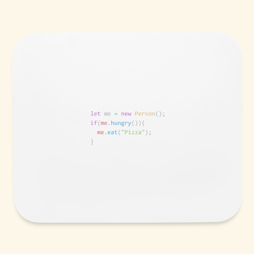 Pizza Code - Colored Version - Mouse pad Horizontal
