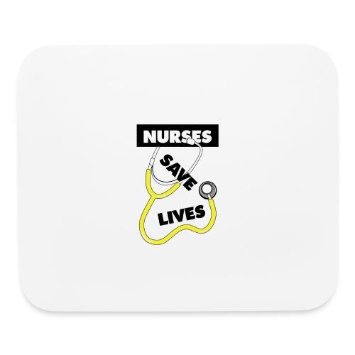 Nurses save lives yellow - Mouse pad Horizontal